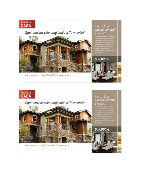 Cartolina per beni immobili (2 per pagina)