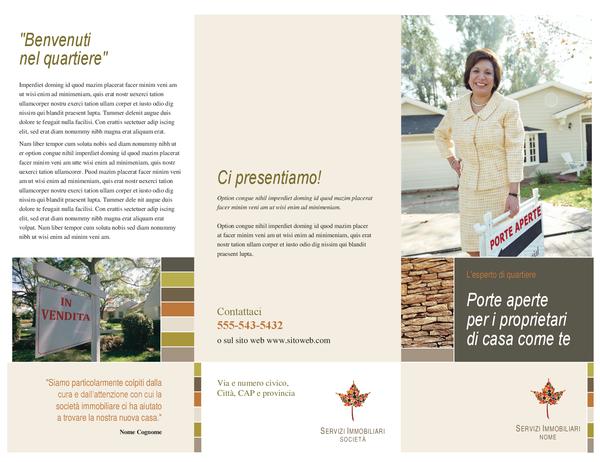 Brochure per agenzia immobiliare (pieghevole)