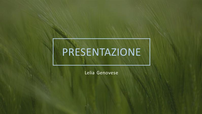 Presentazione verde
