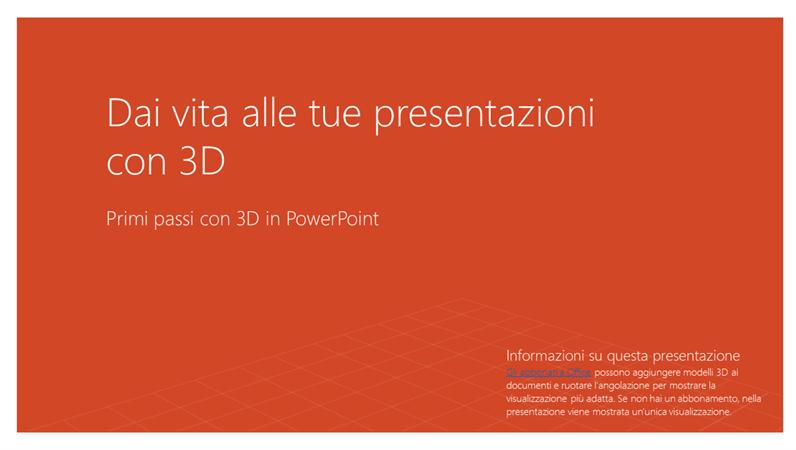 Dai vita alle tue presentazioni con 3D