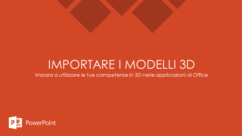 Importare i modelli 3D