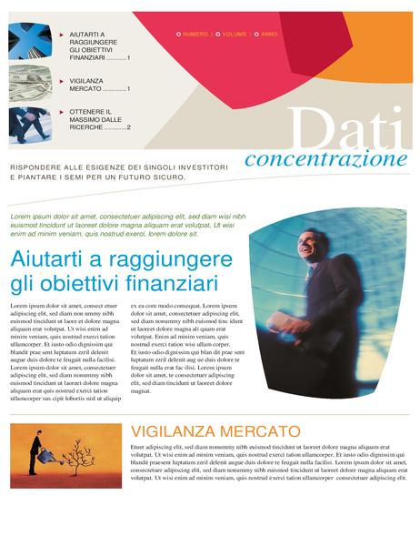 Newsletter finanziaria per le aziende (2 pagine)