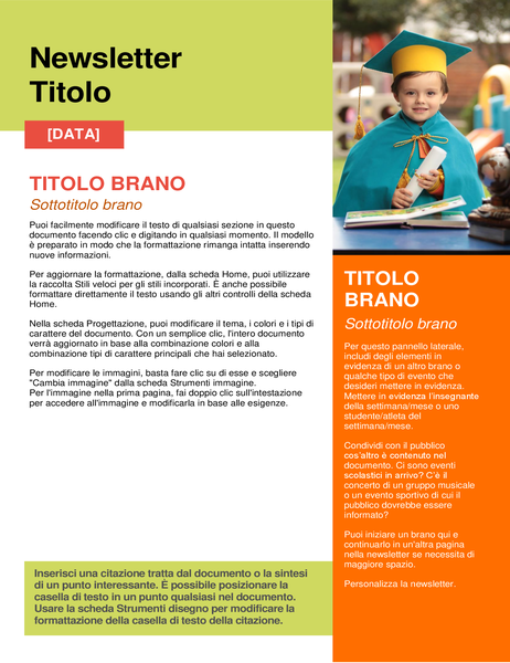 Newsletter scolastica