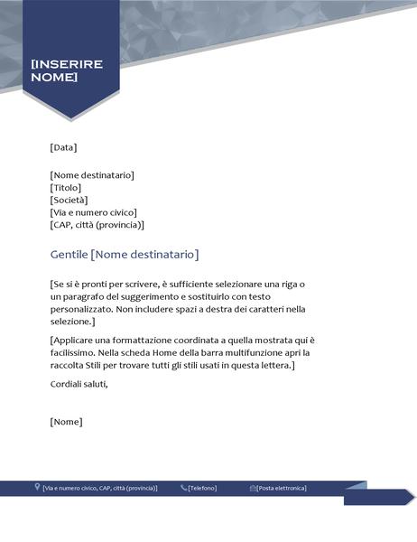 Carta intestata con design freccia