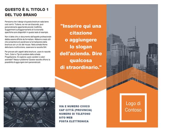 Brochure per il settore dell'architettura