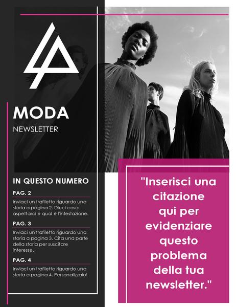 Newsletter per il settore moda