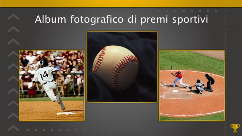 Album fotografico dei premi sportivi