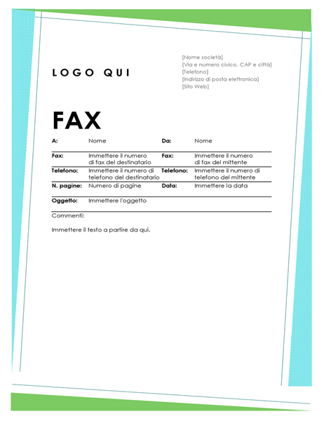 Copertina fax geometrica