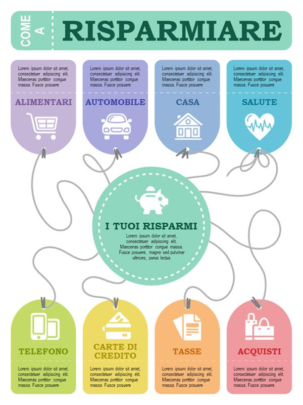 Poster con infografica finanziario