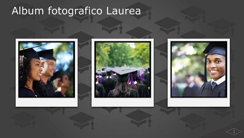 Album fotografico Laurea