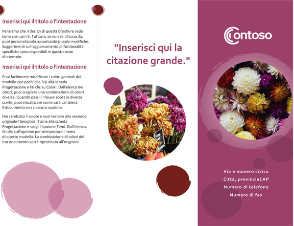 Brochure di tonalità rosa
