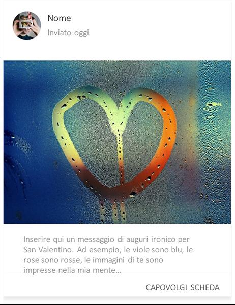 S. Valentino con cuore nella nebbia