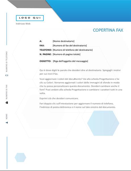 Copertina fax esagonale