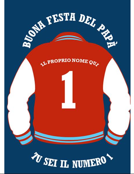 Biglietto per la Festa del Papà con giacca formato letter