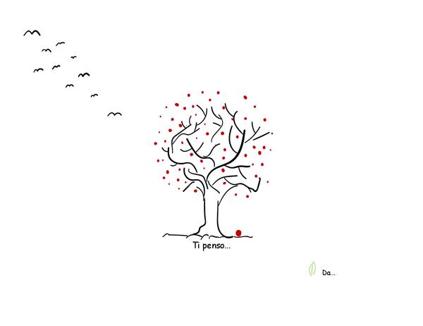 Biglietto di auguri con albero