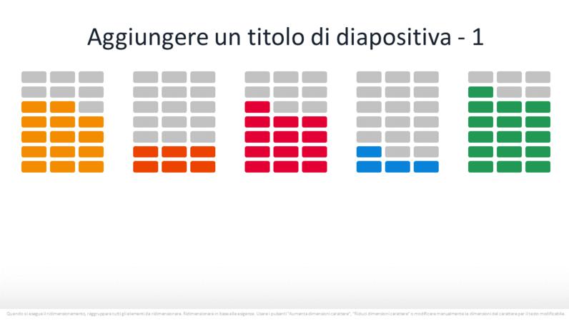 Elemento grafico con percentuale infografica