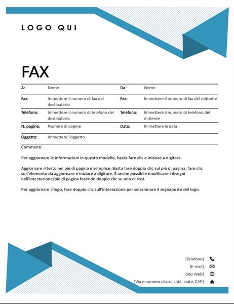 Copertina fax Righe