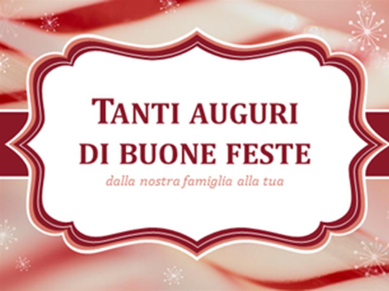 Biglietto natalizio con le decorazioni dei bastoncini di zucchero (2 per pagina)