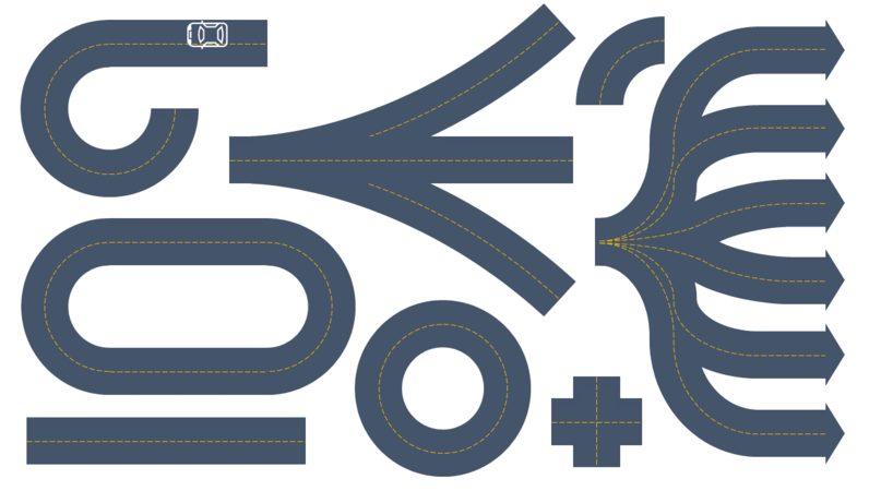 Elementi grafici di costruzioni di strade