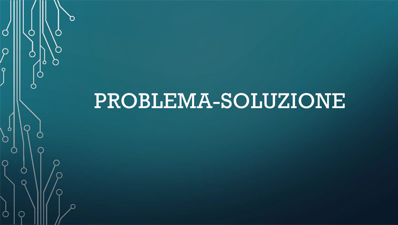 Ciclo problema/soluzione