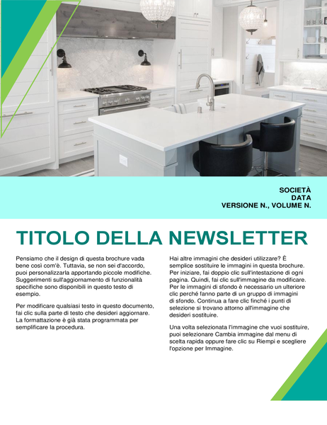 Newsletter per interior design