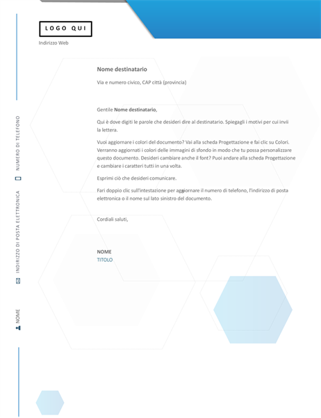Carta intestata esagonale