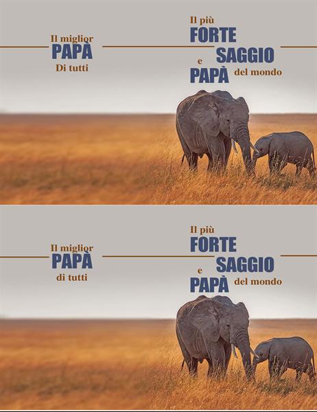 Biglietto per la Festa del Papà con elefante saggio