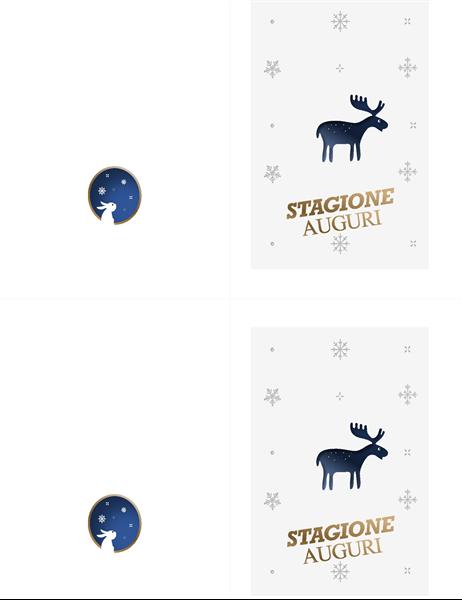 Biglietto di Natale con alce