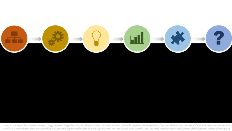 Elemento grafico del diagramma di flusso del processo multicolore
