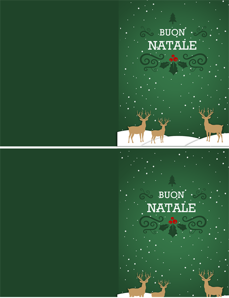 Biglietto renna natalizia