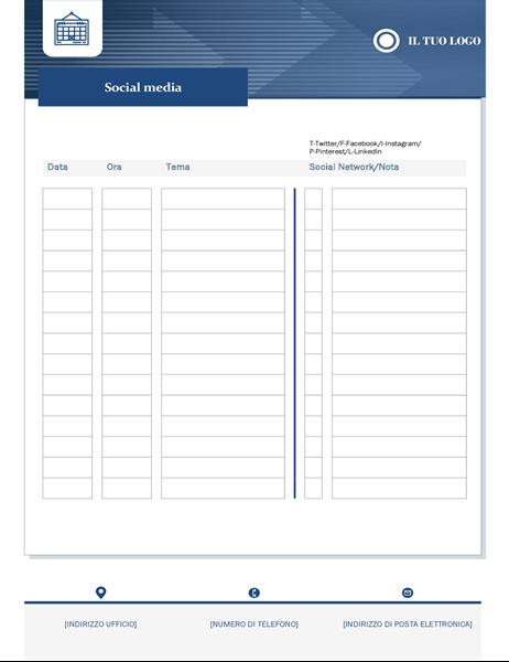 Calendario per contenuti per piccole imprese