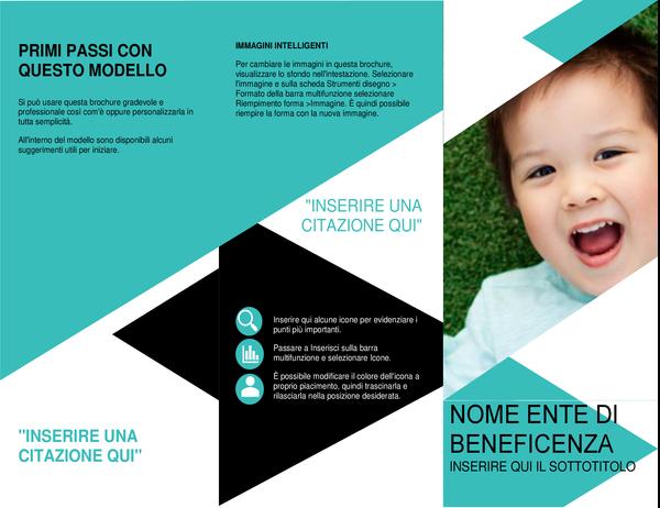 Brochure per organizzazioni no profit