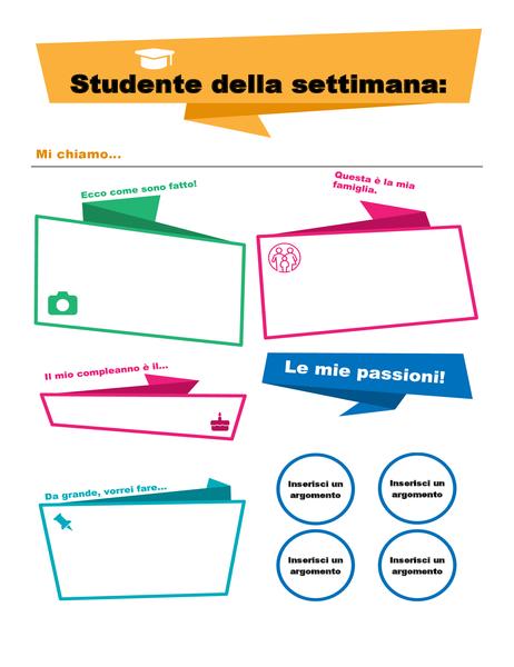Poster Studente della settimana