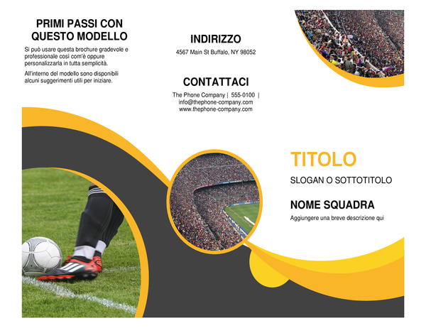 Brochure sportiva
