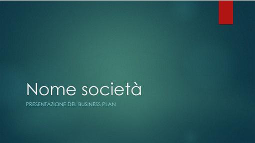 Presentazione piano aziendale (design verde-ione, widescreen)
