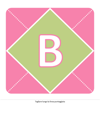 Striscione annuncio nascita bambina (rosa, viola, verde)