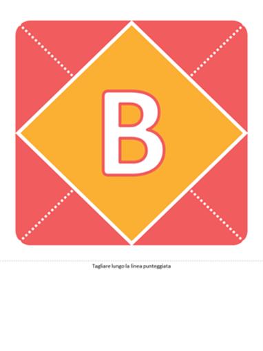 Striscione annuncio nascita bambina (rosa, giallo, verde)