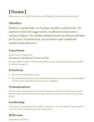 Curriculum (verde)