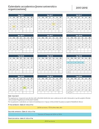 Calendario accademico 2016-2017