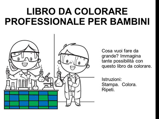 Libro da colorare dei mestieri per bambini