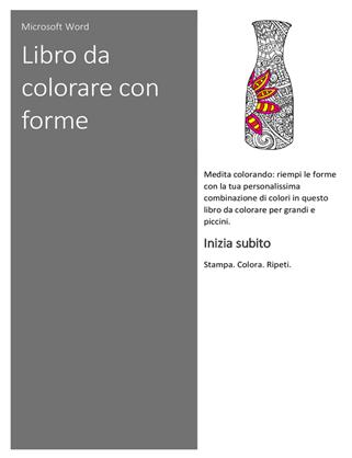 Libro da colorare con forme