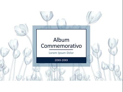 Album commemorativo floreale