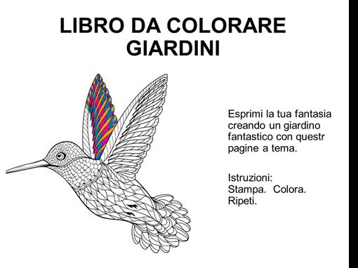 Libro da colorare a tema giardini