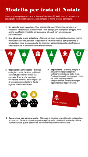Materiali stampabili per la festa di Natale
