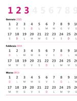 Calendario trimestrale 2015