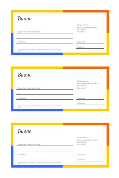 Buono (bordo a più colori, 3 per pagina)