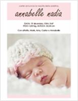 Annuncio nascita bambina