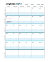 Calendario del piano delle lezioni