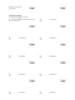 Biglietti da visita, layout orizzontale con logo, allineamento del testo a sinistra