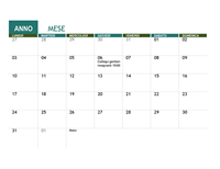 Calendario accademico (qualsiasi anno)